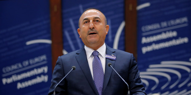 Turkey's Foreign Minister Mevlut Cavusoglu addresses the Parliamentary Assembly of the Council of Europe in Strasbourg, France, October 12, 2016. REUTERS/Vincent Kessler