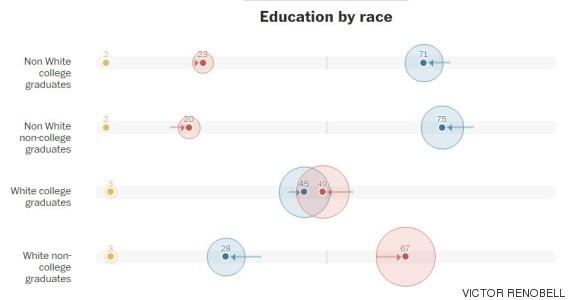 votantes raza educacion