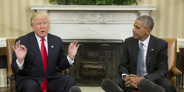 """Trumps erster Besuch im Weißen Haus: """"Ich freue mich auf weitere Zusammenarbeit mit Obama"""""""