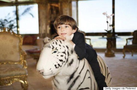 barron trump white tiger
