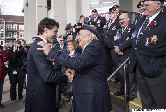 justin trudeau veterans