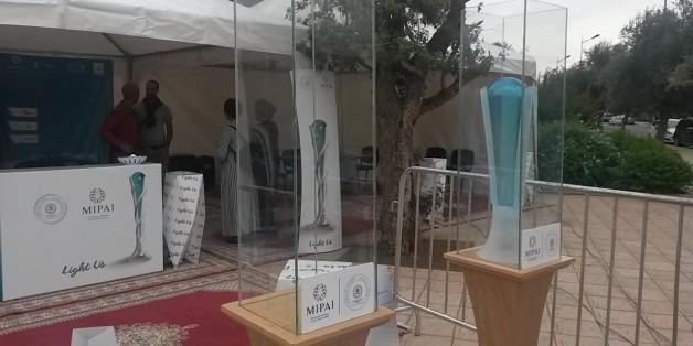"""""""Light Us"""", la """"flamme olympique"""" de la COP22, est arrivée à Marrakech"""