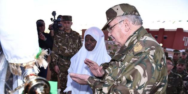 Le général Ahmed Gaïd Salah, vice-ministre de la Défense nationale, chef d'état-major de l'armée algérienne