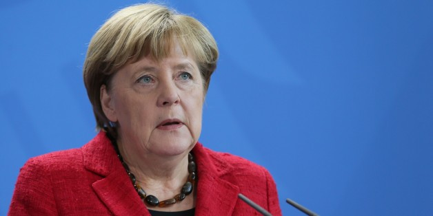 Bundeskanzlerin Angela Merkel (CDU) bei ihrem Statement zum Wahlsieg Donald Trumps