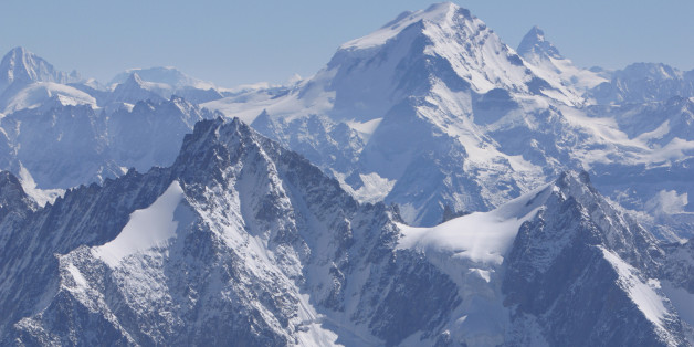 Summits of mountains in the Alps