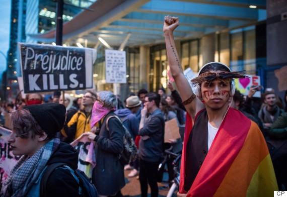vancouver trump protest