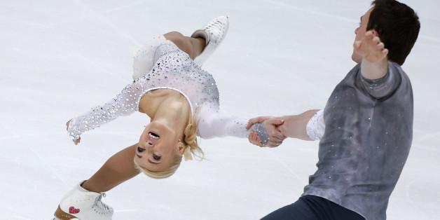 Aliona Savchenko und Bruno Massot werden beim Eiskunstlauf-Grand-Prix von Frankreich zu sehen sein - auch im Live-Stream