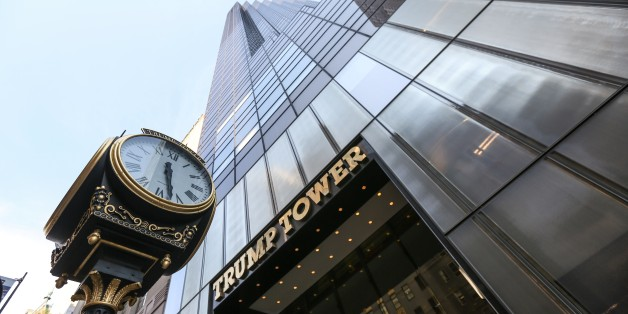 NEW YORK, NY - AUGUST 18: View of the Trump Tower building seen in New York, NY on August 18, 2015. According to local newspapers, Real Madrid soccer superstar Cristiano Ronaldo paid $18.5 million for a 2,509 square foot loft in the Trump Tower on Fifth Avenue. (Photo by Cem Ozdel/Anadolu Agency/Getty Images)