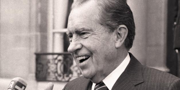 Der ehemalige US-Präsident Richard Nixon 1987 in Paris