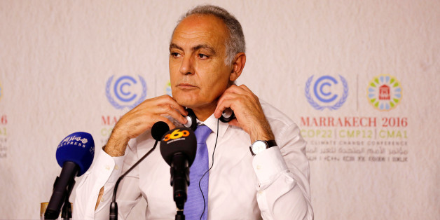 Moroccan Foreign Minister Salaheddine Mezouar and President of COP22 speaks during the Daily Conference at the UN World Climate Change Conference 2016 (COP22) in Marrakech, Morocco, November 12, 2016. REUTERS/Youssef Boudlal