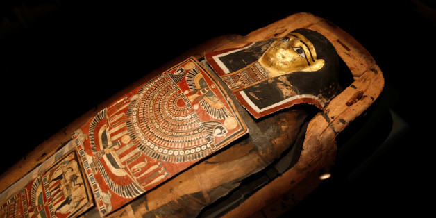 "A 2200-year-old Egyptian mummy, the only mummy in Israel, who according to the museum was a 30-40 year old male named ""Iret-hor-r-u"", meaning the ""Protective Eye of Horus"", is seen on display at the Israel Museum in Jerusalem July 27, 2016. REUTERS/Ronen Zvulun"