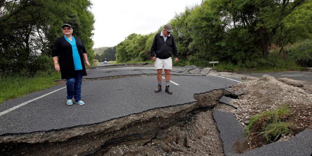 Das Erdbeben erschütterte Neuseeland mitten in der Nacht
