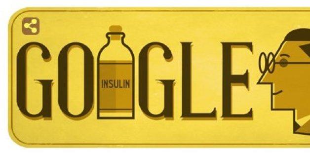 Das Doodle am 14. November gedenkt Sir Frederick Banting - dem Entdecker des Insulins