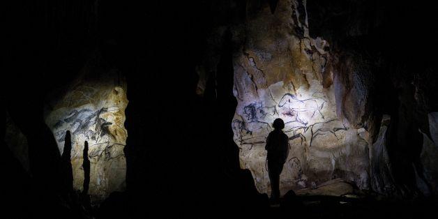 Höhlenmalereien in der Chauvet-Höhle nahe dem französischen Ort Vallon-Pont-d'Arc (Symbolbild)