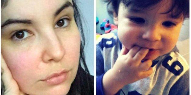Laura Mazza mit ihrem ersten Sohn Quelle: Facebook