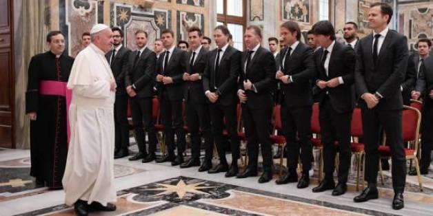 Die DFB-Nationalelf war bei Papst Franziskus zur Audienz geladen