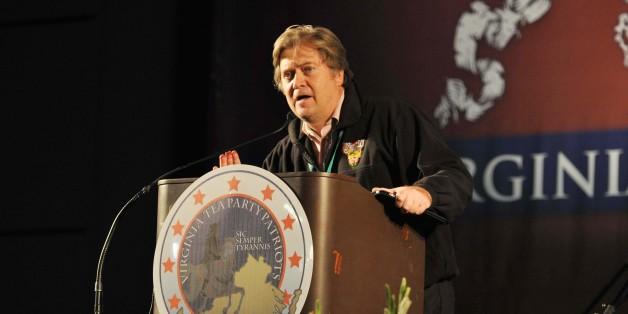 Stephen Bannon bei einer Veranstaltung der Tea Party in Virginia