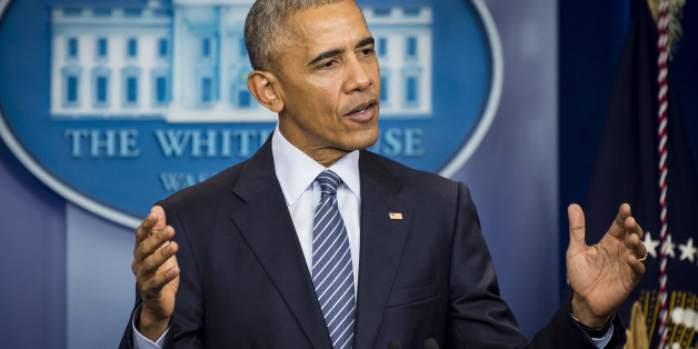 Barack Obama während der Pressekonferenz am Montag