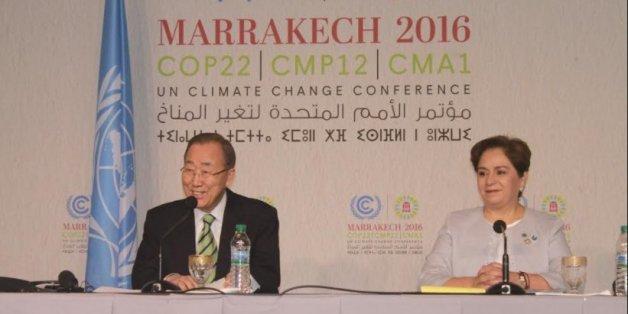 Ban Ki-moon, secrétaire général des Nations unies, et Patricia Espinosa, Secrétaire exécutive de la Convention-cadre de l'ONU sur les changements climatiques