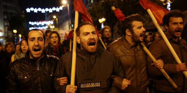 In Athen haben tausende gegen den Besuch von Barack Obama protestiert