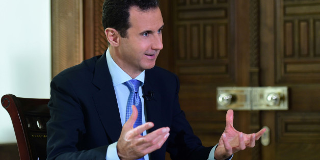 Syria's President Bashar al-Assad speaks during an interview with a Portuguese television channel in this handout picture provided by SANA on November 15, 2016. SANA/Handout via REUTERS ATTENTION EDITORS - THIS PICTURE WAS PROVIDED BY A THIRD PARTY. IT IS DISTRIBUTED, EXACTLY AS RECEIVED BY REUTERS, AS A SERVICE TO CLIENTS. REUTERS IS UNABLE TO INDEPENDENTLY VERIFY THE AUTHENTICITY, CONTENT, LOCATION OR DATE OF THIS IMAGE. FOR EDITORIAL USE ONLY. TPX IMAGES OF THE DAY