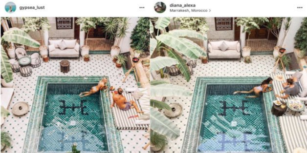Ces photos de rêve prises au Maroc ont été plagiées au détail près