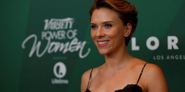 Actor and honoree Scarlett Johansson poses at Variety's Power of Women Luncheon in Beverly Hills, California U.S., October 14, 2016.   REUTERS/Mario Anzuoni