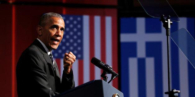 Der scheidende US-Präsident Barack Obama hat in Athen eine Rede auf die Werte der Demokratie gehalten