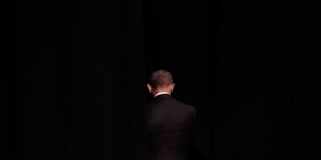 ATHENS, GREECE - NOVEMBER 16: U.S. President Barack Obama leaves the stage after his speech at the Stavros Niarchos Foundation Cultural Center on November 16, 2016 in Athens, Greece. President Barack Obama arrived in Greece Tuesday morning on the first stop of his final foreign tour as president, the first visit to Greece. (Photo by Milos Bicanski/Getty Images)