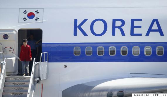 park geun hye airplane