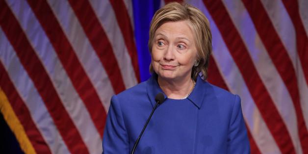 Hillary Clinton beim Auftritt am Mittwochabend