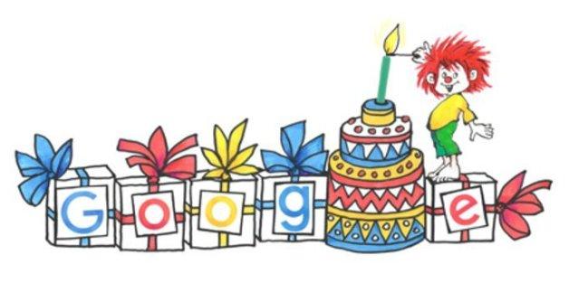 Im Google Doodle gratuliert Pumuckl Ellis Kaut - sie wäre am Donnerstag 96 Jahre alt geworden