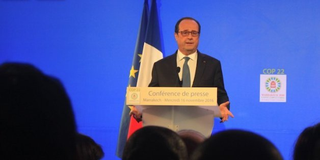 """François Hollande à Marrakech: """"Nous avons une dette écologique envers l'Afrique"""""""