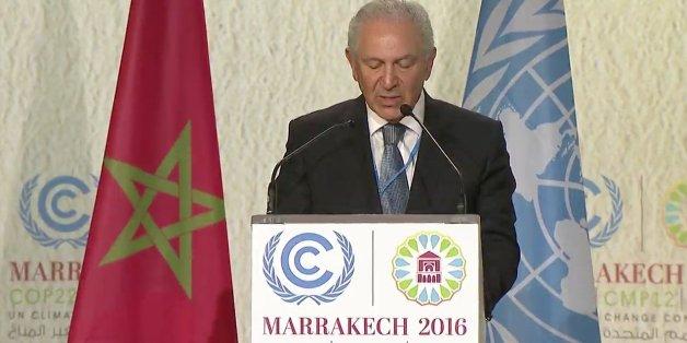 Aziz Mekouar, ambassadeur pour la négociation multilatérale de la COP22, Marrakech, 17 novembre 2016