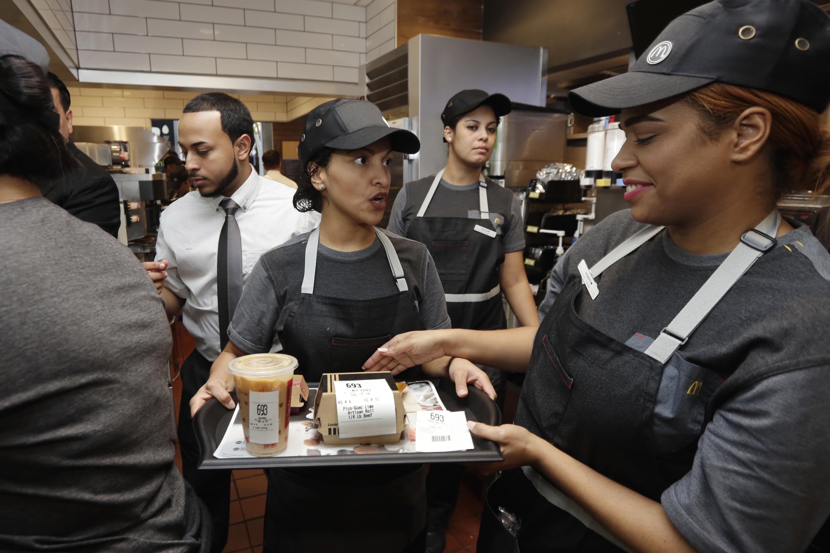 mcdonalds table service