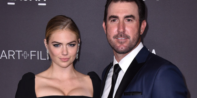Kate Upton, left, and Justin Verlander arrive at the 2016 LACMA Art + Film Gala on Saturday, Oct. 29, 2016 in Los Angeles. (Photo by Jordan Strauss/Invision/AP)