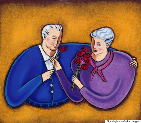 elderly illustration