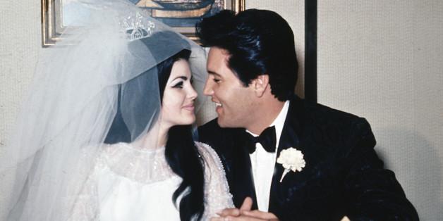 Priscilla Presley und ihr Mann Elvis bei ihrer Hochzeit im Mai 1967 - nicht immer war die Ehefrau des King of Rock'n'Roll so glücklich wie auf diesem Foto