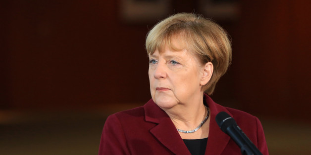 Angela Merkel, Germany's chancellor, looks on during a news conference with U.K. Prime Minister Theresa May (not pictured) at the Chancellery in Berlin, Germany, on Friday, Nov. 18, 2016. A smooth Brexit is in the interests of the U.K., Germany and all Britain's partners, May said. Photographer: Krisztian Bocsi/Bloomberg via Getty Images