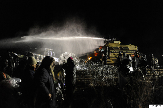 standing rock water cannons