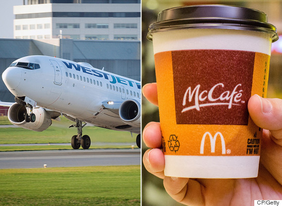 westjet mcdonalds coffee