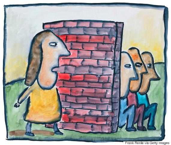 walls between people illustration