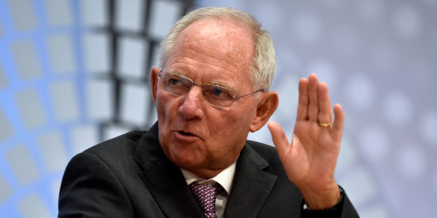 German Finance Minister Wolfgang Schauble speaks during a panel discussion at the annual meetings of the IMF and World Bank Group in Washington October 6, 2016. REUTERS/James Lawler Duggan