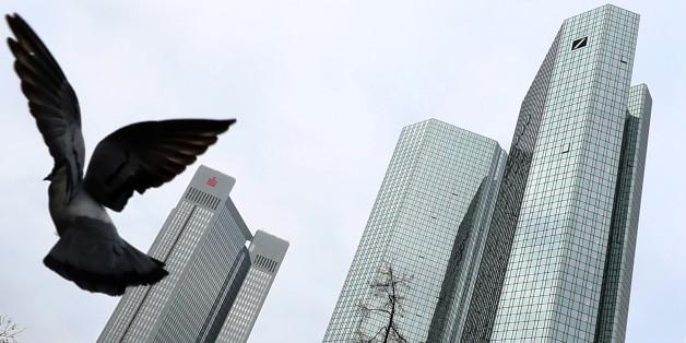 Das Gebäude der Deutschen Bank in Frankfurt