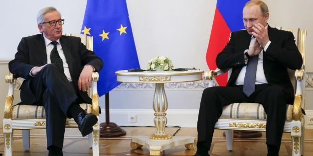 So nah und doch so fern: Der Präsident der Europäischen Kommission, Jean-Claude Juncker, und der russische Präsident Wladimir Putin