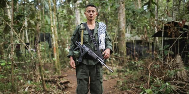 Ein Mitglied der Farc-Rebellen