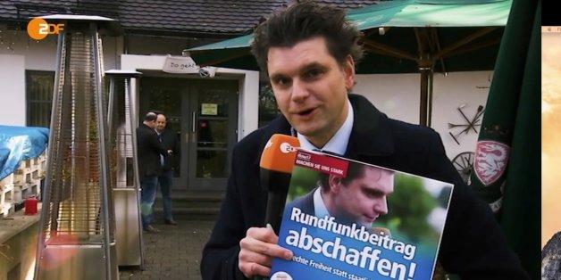 """""""Heute Show""""-Außenreporter Lutz van der Horst vor dem Parteitag der AfD Bayern"""