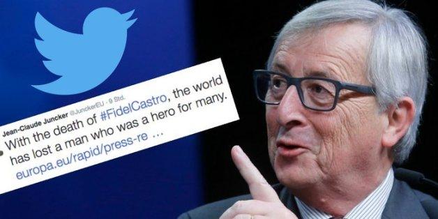 EU-Kommissionspräsident Juncker erntet heftige Kritik nach Tweet zum Tod von Fidel Castro