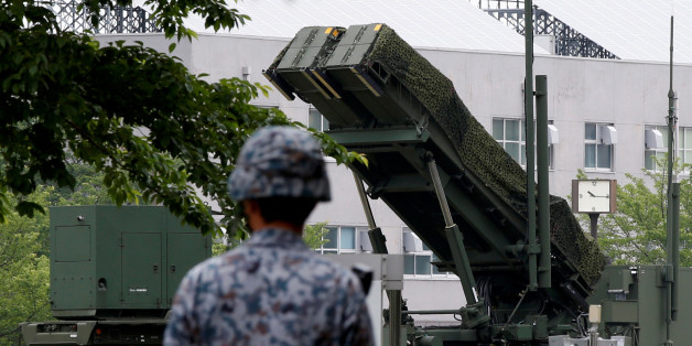 A Japan Self-Defence Forces soldier walks past Patriot Advanced Capability-3 (PAC-3) missile at the Defense Ministry in Tokyo, Japan, May 31, 2016  REUTERS/Toru Hanai