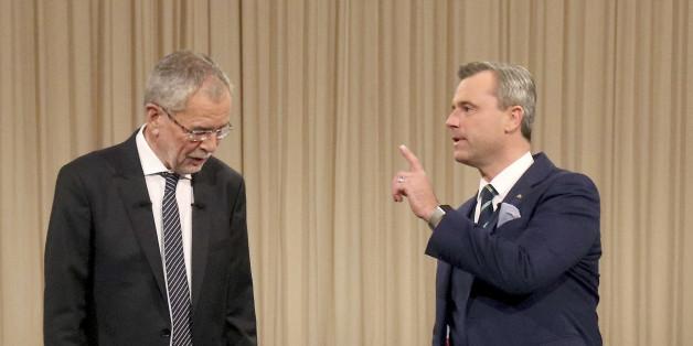 Die Präsidentschaftskandidaten Norbert Hofer und Alexander Van der Bellen